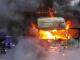 LKW in Flammen: Rauchwolken im Süden von Bochum